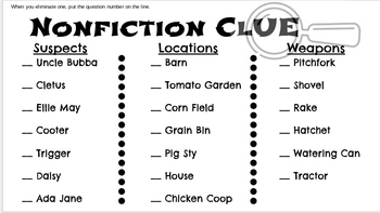 Nonfiction Clue with High-Interest Article
