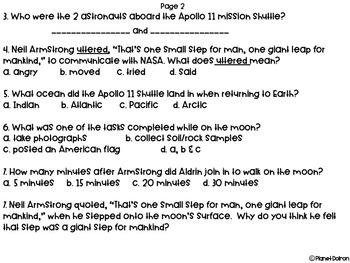 Nonfiction Cold read Apollo 11 moon mission