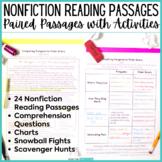 Nonfiction Reading Passages & Comprehension Activities Bundle - Paired Passages