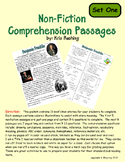 Nonfiction Comprehension Passages - Set One