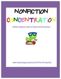 Nonfiction Concentration Library Skills Game