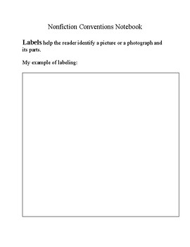 Nonfiction Conventions Notebook