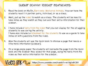 Nonfiction Create a Sidebar activity