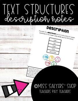 Nonfiction Description Notes/Anchor