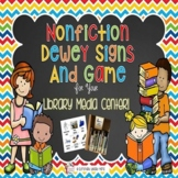 Nonfiction Dewey Signs/Game For Your School Library Media Center
