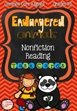 ENDANGERED ANIMALS Nonfiction Reading Task Cards -Mixed Skills