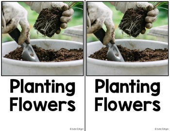 Nonfiction Easy Reader: Planting Flowers