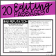 Nonfiction Editing Passages