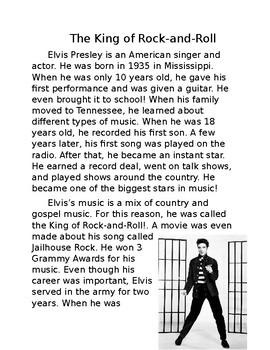Nonfiction Elvis Biography Passage