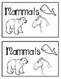 Nonfiction Emergent Reader- Mammals