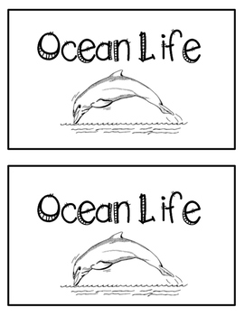 Nonfiction Emergent Reader- Ocean LIfe