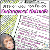 Nonfiction Endangered Animal Passages for Language, Compre