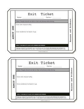 Nonfiction Exit Tickets Grade 5