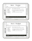 Nonfiction Exit Tickets Grade 6