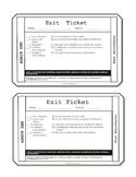 Nonfiction Exit Tickets Grade 6