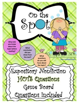 Nonfiction Expository Question Game Board