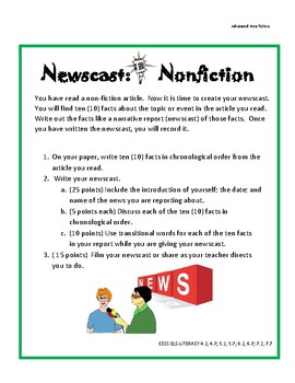 Nonfiction Facts Newscast