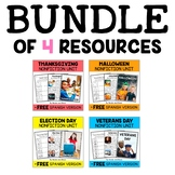 Nonfiction Units - Fall Holiday Bundle