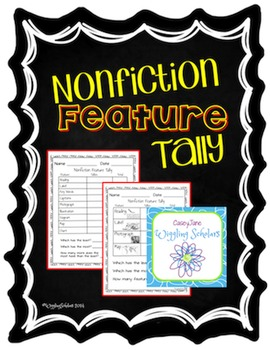 Nonfiction Feature Tally Chart