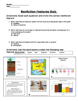 Nonfiction Features Quiz
