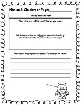 Nonfiction & Fiction Chapter Book Reading Comprehension Missions Packet BUNDLE