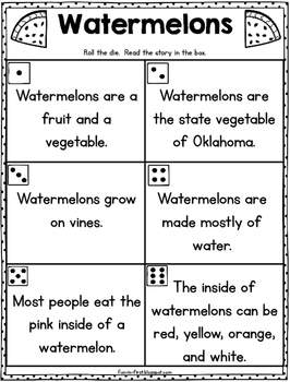 Nonfiction Fluency {Beginning Readers} - Roll and Read Activities