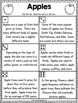 Nonfiction Fluency - Roll and Read Activities