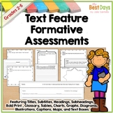 Nonfiction Text Feature Assessment: Formative Exit Slips to Assess Text Features