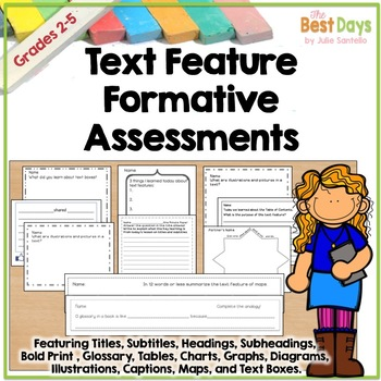 Nonfiction Formative Assessments for Text Features:CCSS Version