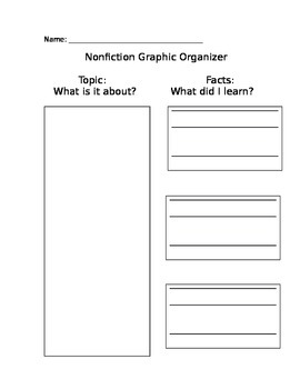 Nonfiction Graphic Organizer