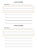 Nonfiction Graphic Organizer - Boxes and Bullets