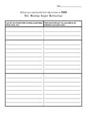 Nonfiction Graphic Organizer Text Features