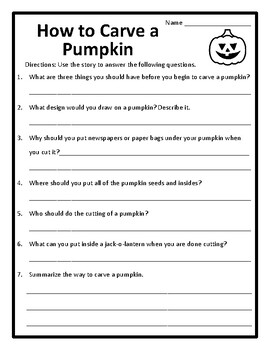 Nonfiction Halloween Reading Halloween Nonfiction Reading Passage With Questions