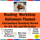 Nonfiction Halloween Reading Workshop Mini Lessons for 3rd