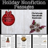 Nonfiction Holiday Reading Passages (Christmas, Kwanzaa, Hanukkah)