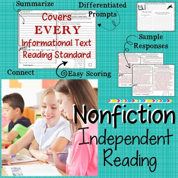 NONFICTION INDEPENDENT READING RESPONSE LOG - MIDDLE SCHOOL ENGLISH
