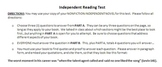 Nonfiction Independent Reading Test