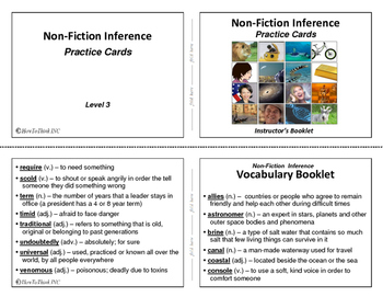 Nonfiction Inference Practice Cards