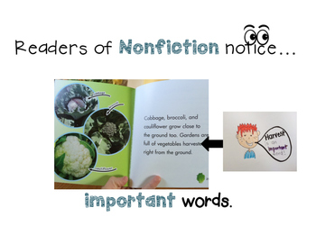 Nonfiction/Information Teaching Point Anchor Charts