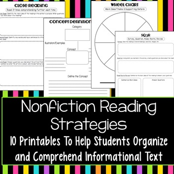 Nonfiction Reading Response Printables