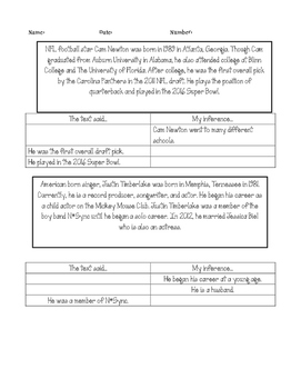 Nonfiction, Informational Inference Passages Printable! Second Edition!