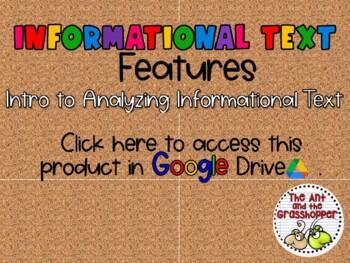 Nonfiction Informational Text Features 101 Upper Grades