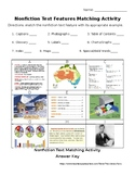 Nonfiction Informational Text Features Matching Activity