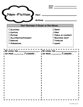 Informational Text Features Activities Packet
