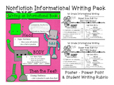 Nonfiction Informational Writing - Power Point- Poster -Teacher & Student Rubric