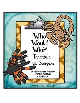 Nonfiction Interactive Lapbook Locating Evidence Tarantula vs. Scorpion