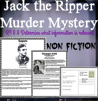 Nonfiction: Jack The Ripper Murder Mystery
