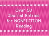 Nonfiction Journal Entries for Readers and Writers Workshop