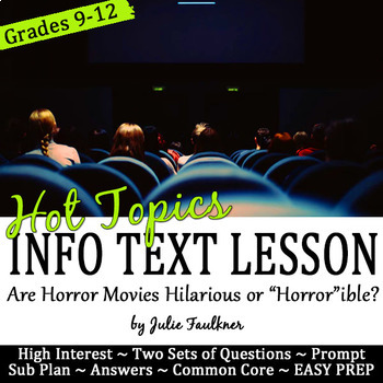 Nonfiction Lesson for Halloween: Are Horror Movies Hilarious or Horrible?