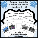 Guided Reading Nonfiction Leveled AA Readers Numbers 1-10
